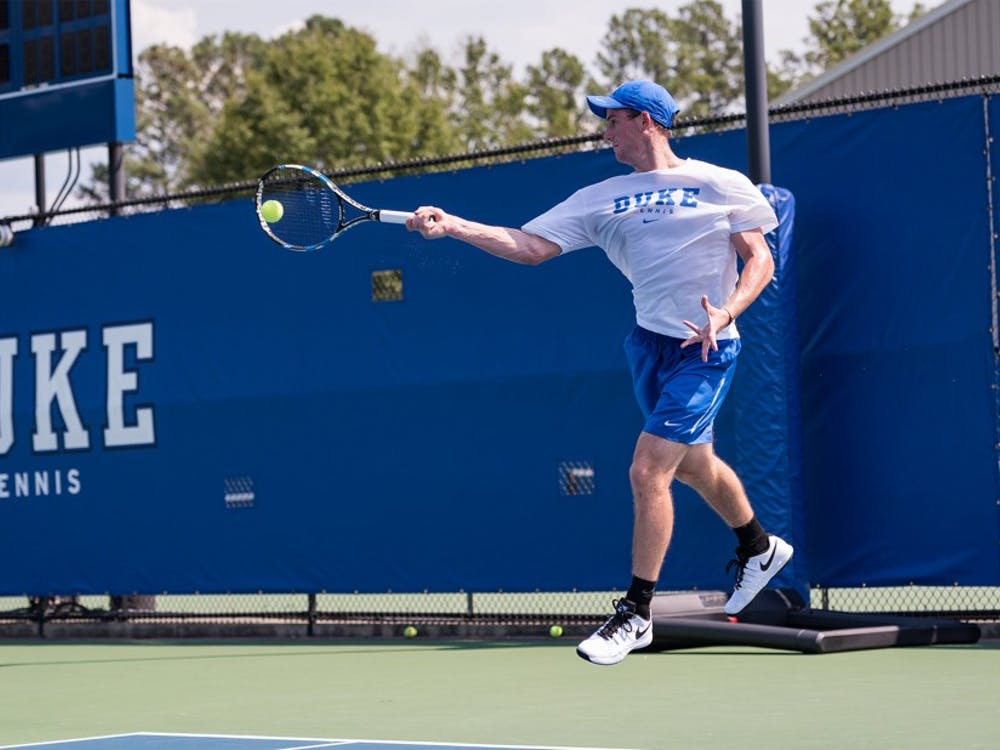 Freshman Robert Levine won the first tournament of his career at the Dick Vitale clay court event in Florida this weekend.