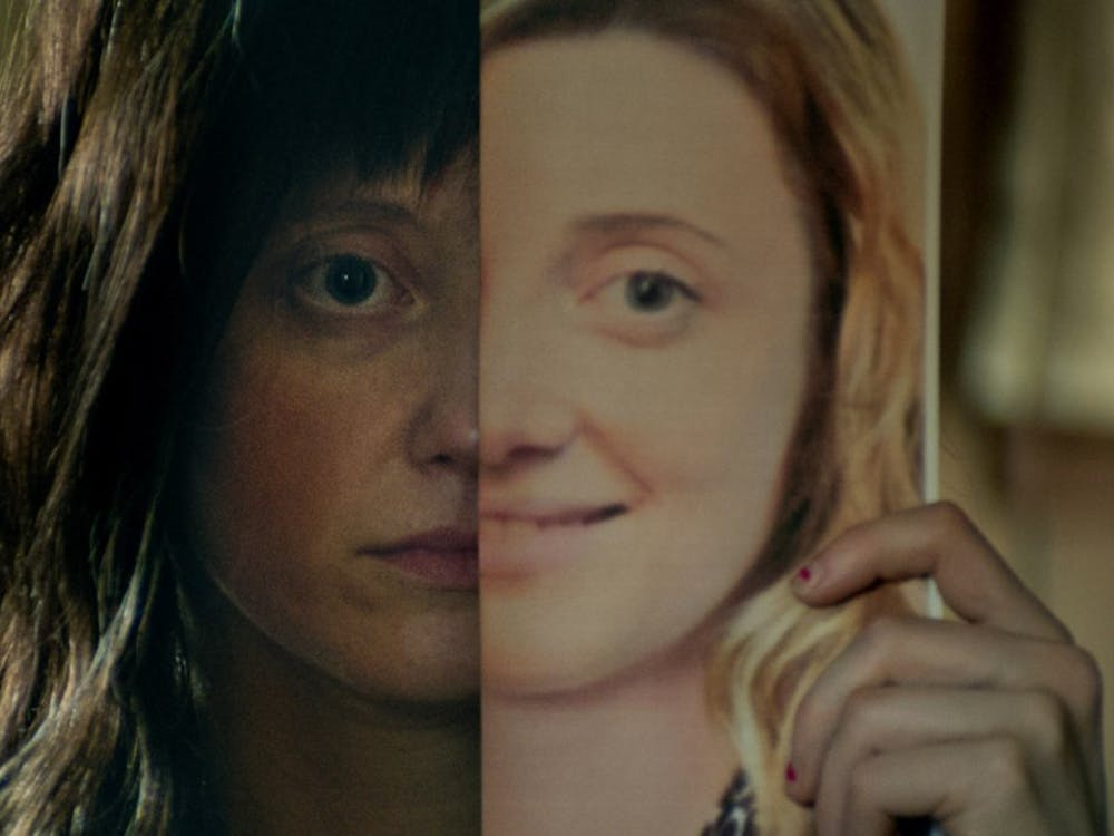"""Nancy,"" an entry in the U.S. Dramatic Competition at the Sundance Film Festival, revolves around the lies and hoaxes spun by its main character, played by Andrea Riseborough."