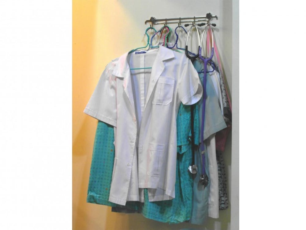 The study found that wearing antiseptic scrubs did not lead to decreased contamination of nurses' clothing.