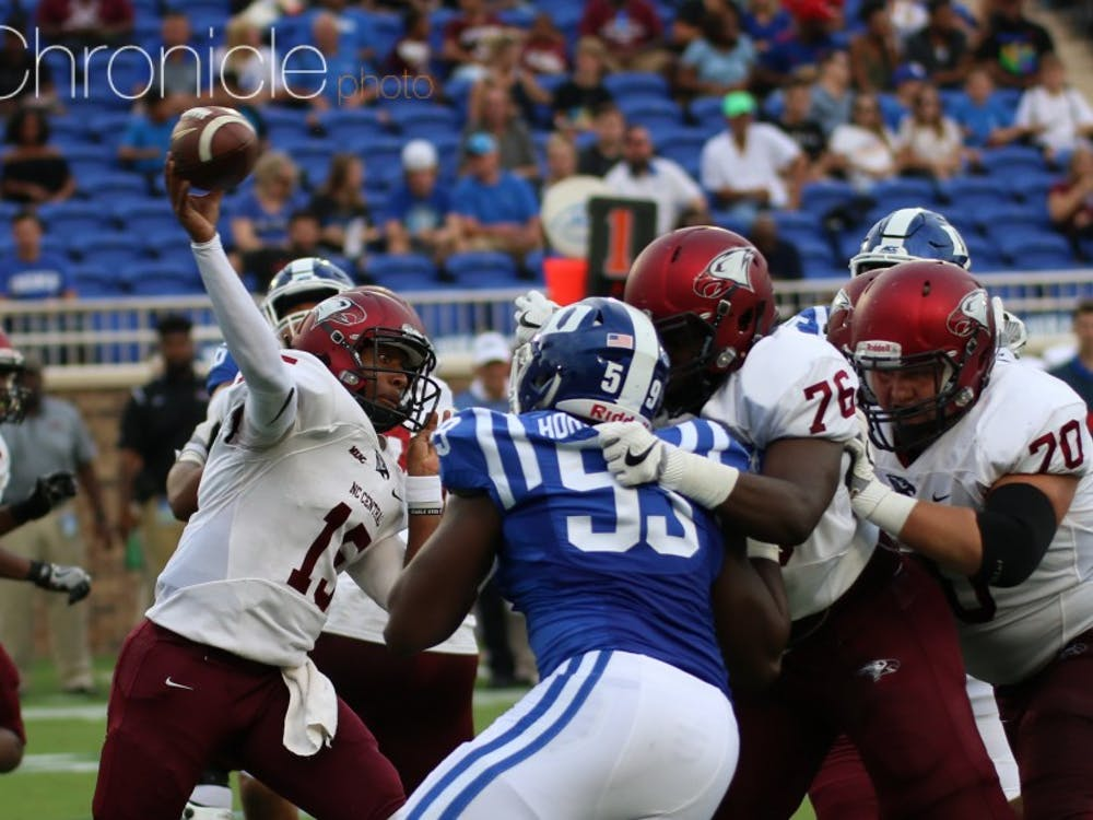 N.C. Central has lost its last four games to Duke by a combined score of 209-13.