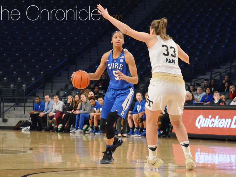 Freshman Leaonna Odom and the Blue Devils could move into the top 10 with a win Sunday.