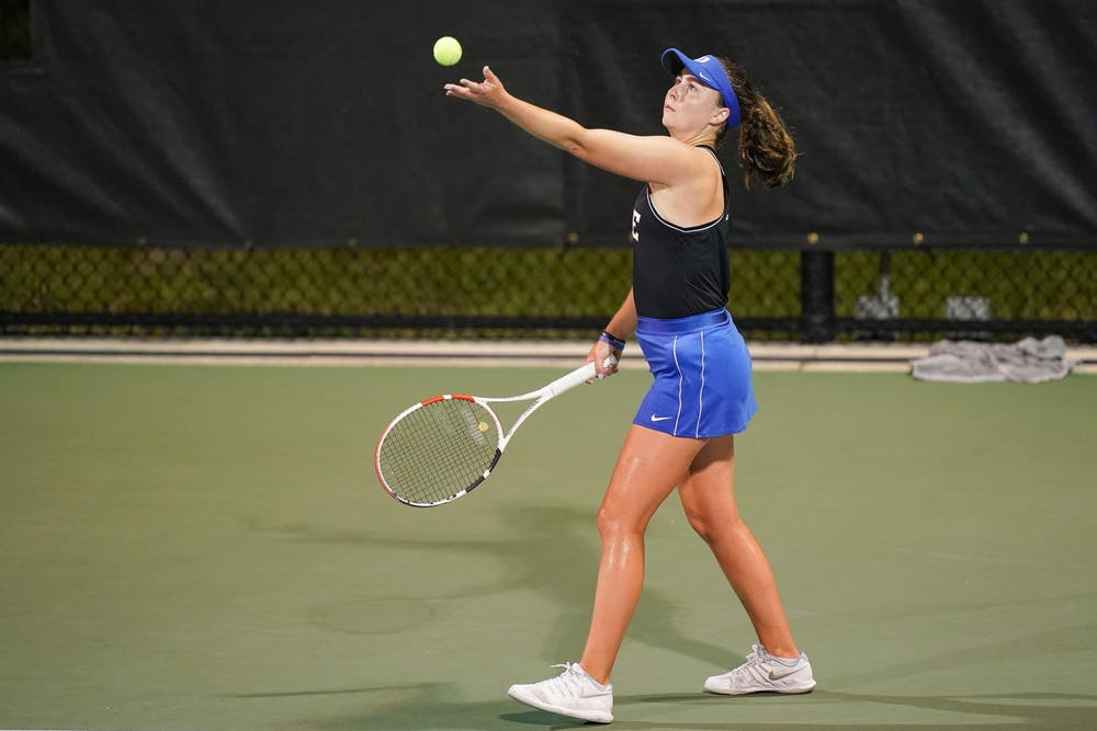 Rising junior Chloe Beck has dominated singles in her first two years in Durham.