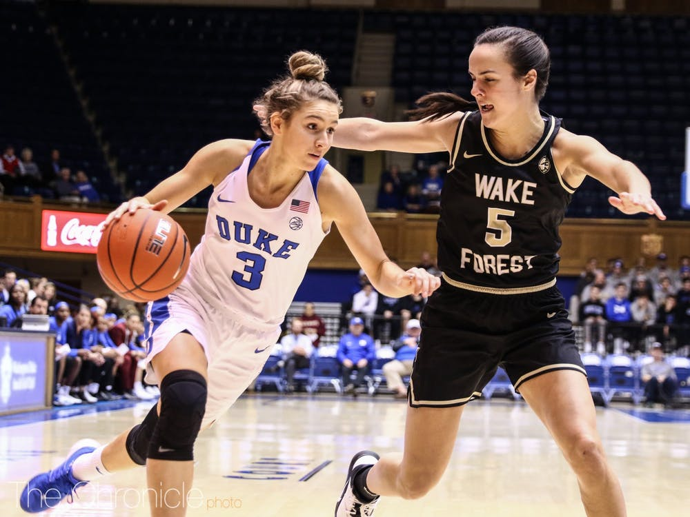 <p>Can Miela Goodchild and the Blue Devils recover from beyond the arc Sunday?</p>
