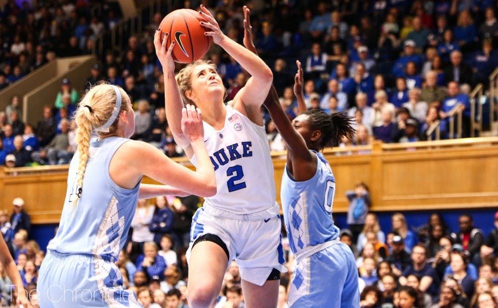 <p>Haley Gorecki has put the Blue Devils on her back this season.</p>