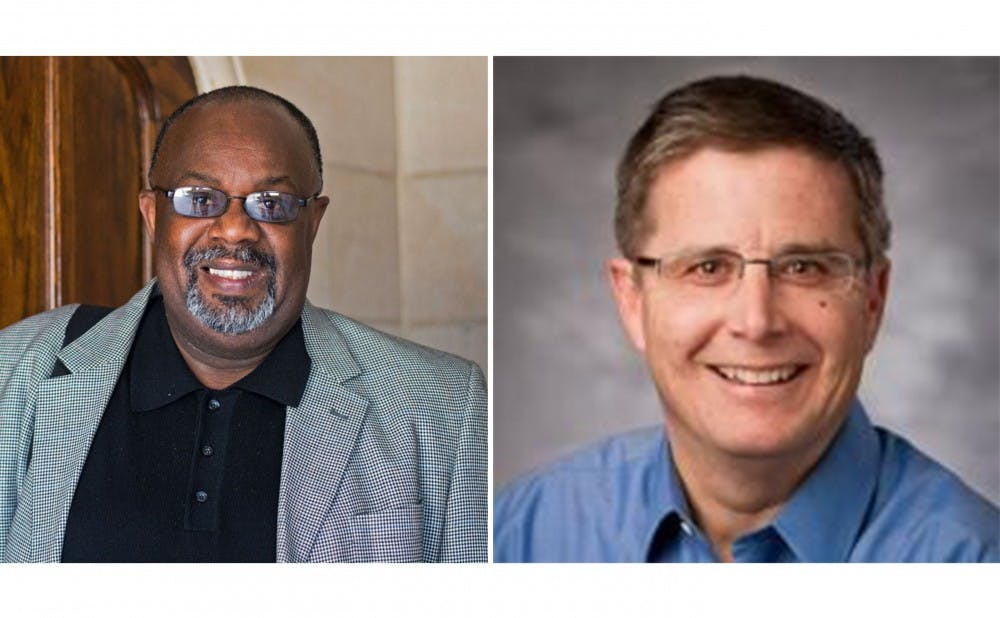 <p>Kerry Haynie (left), associate professor of political science and African and African American studies, and&nbsp;Peter Feaver, professor of political science and public policy, discussed their thoughts on last week's Republican National Convention.&nbsp;</p>