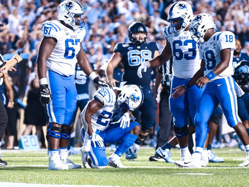 <p>Deon Jackson's interception ultimately clinched the game for the Tar Heels.</p>