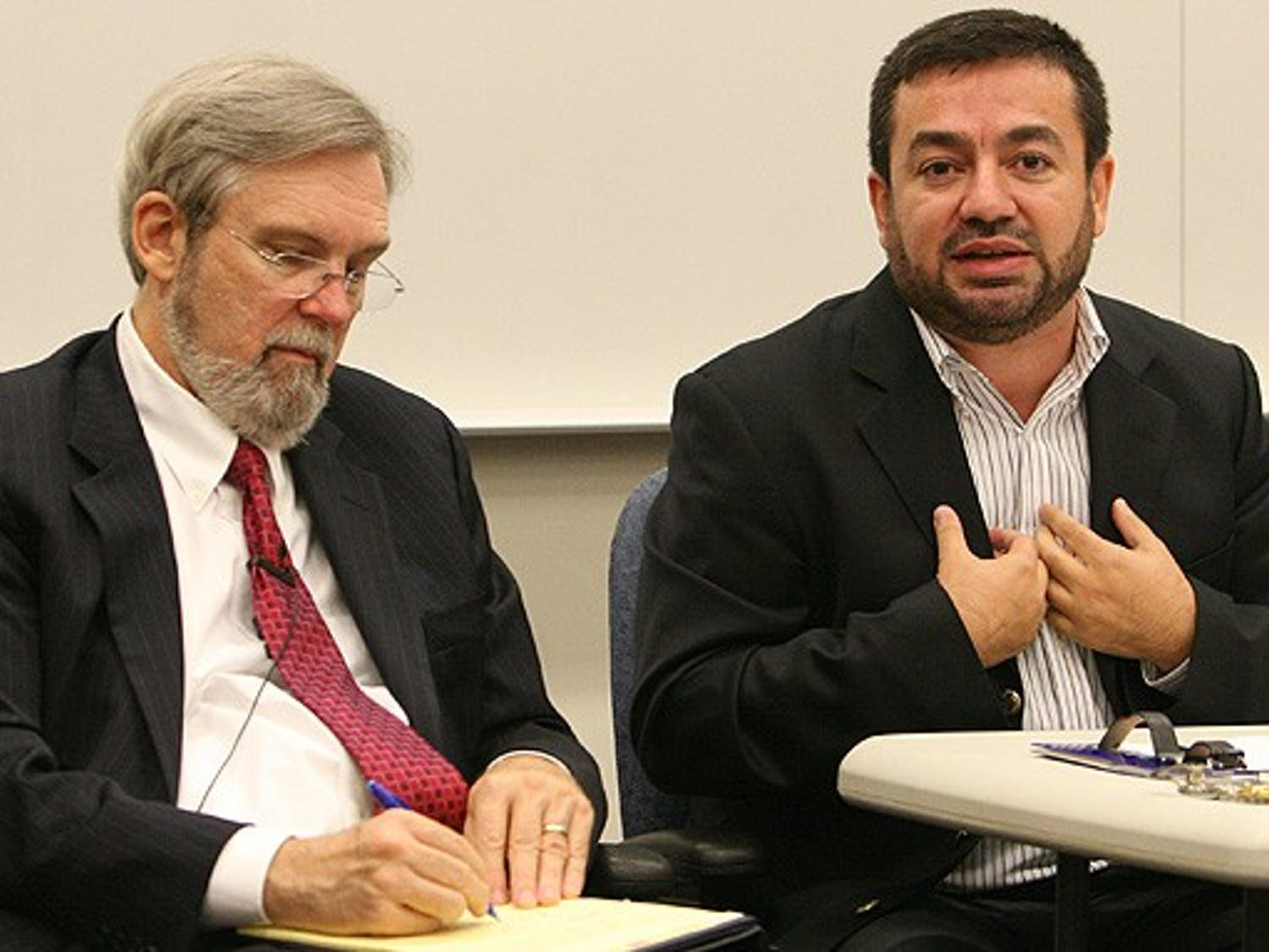 Muslim Chaplian Abdullah Antepli participated in the panel discussion Wednesday night.