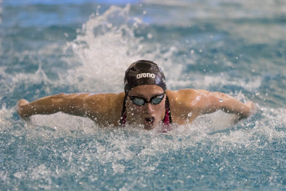 <p>Leah Goldman captured a silver medal in the 100-yard butterfly and shattered her own school record in the process to capture the team's highest finish at the ACC championship.&nbsp;</p>