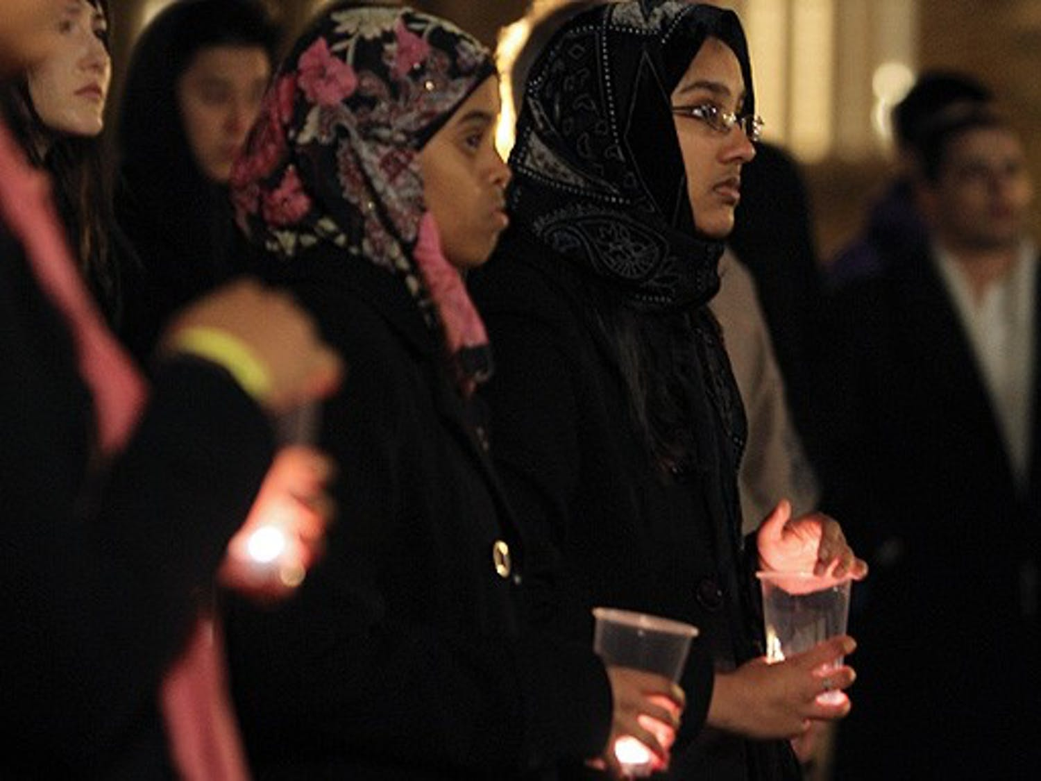 Members of the Duke and Durham communities gathered Tuesday for a candlelight vigil in honor of the anti-government protests in Egypt.