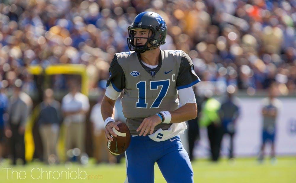 <p>Daniel Jones had three touchdown passes in the third quarter Saturday.&nbsp;</p>