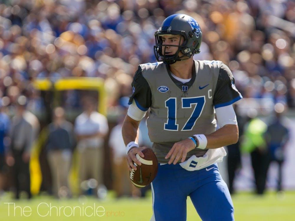 Daniel Jones had three touchdown passes in the third quarter Saturday.