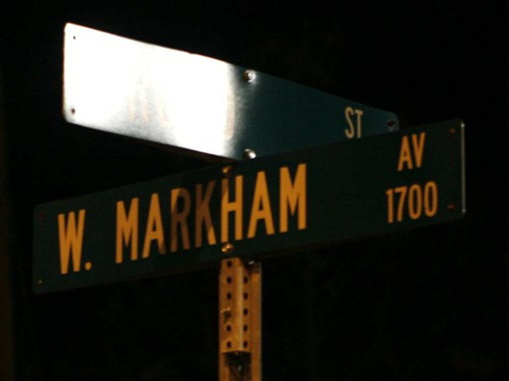 Two Duke students were robbed at gunpoint on West Markham Avenue early Tuesday morning.  Police patrols in the area have been increased.
