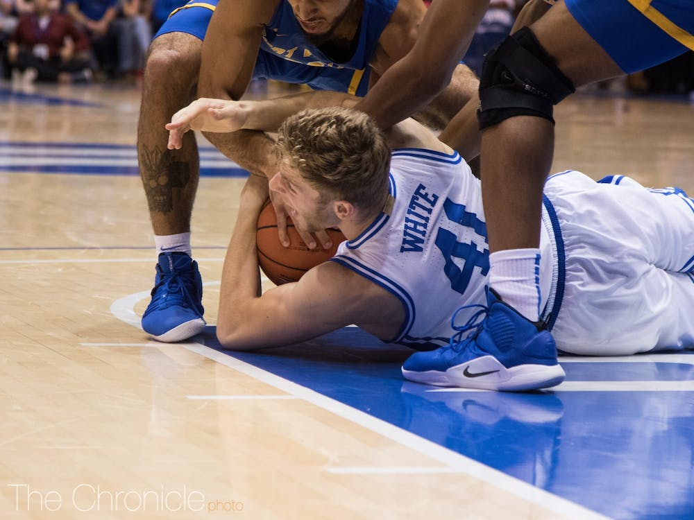 Jack White started in Duke's exhibition opener against Northwest Missouri State. Will he get the nod Tuesday night against Kansas?
