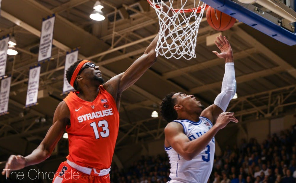 No 1 Duke Men S Basketball Falls To Syracuse Battling Poor