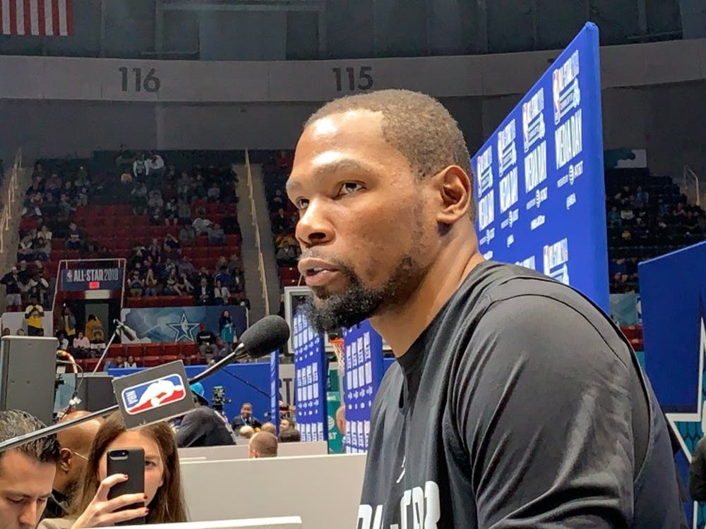 NBA All-Star and defending champ Kevin Durant will be at Cameron Indoor tonight for Duke's game vs. N.C. State.