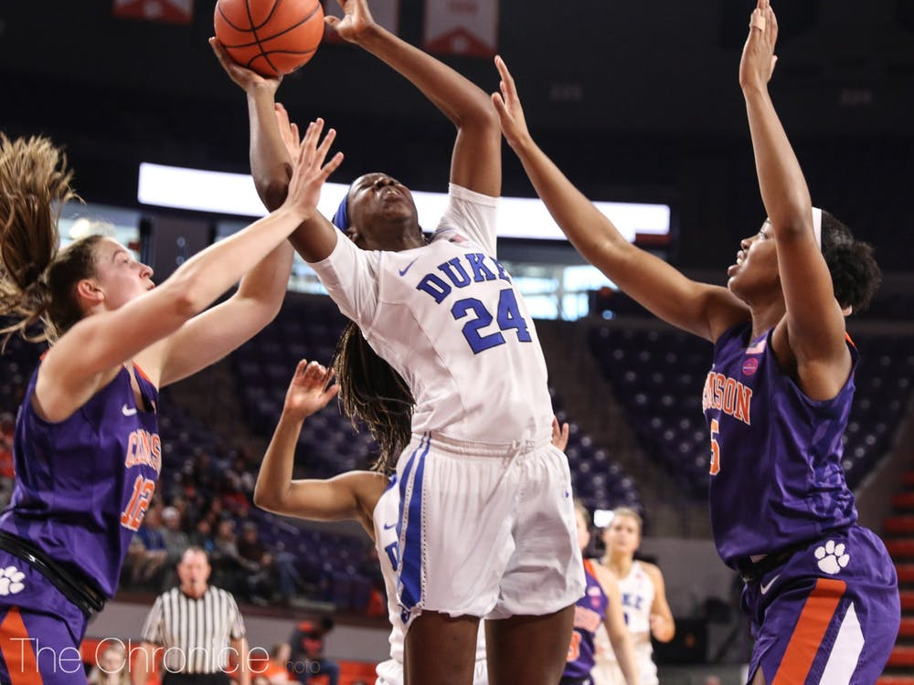 Forward Onome Akinbode-James is one of two returning starters on a very inexperienced Blue Devil roster.