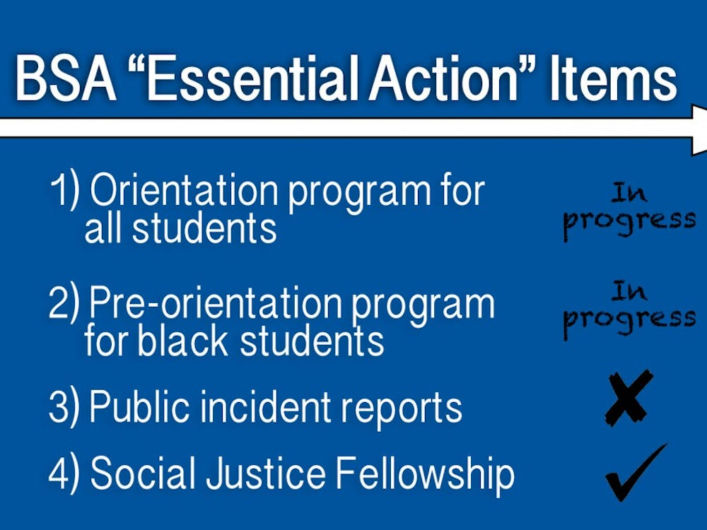 The Social Justice Fellowship pushed for by BSA and DSG is set to launch, with progress still needed on pre-orientation and orientation programs that the groups hope to implement in the future.