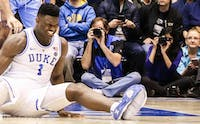 It took less than a minute for the biggest storyline of Wednesday night to come to fruition as Zion Williamson's shoe imploded and the star freshman never returned.