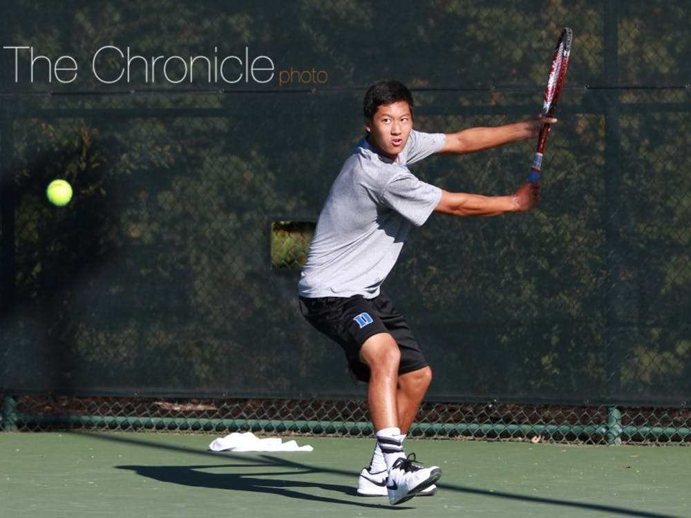 Freshman Adrian Chamdani was the highlight of Duke's singles play this weekend at the USTA/ITA Carolina Regional, reaching the Round of 16 Sunday before being eliminated.
