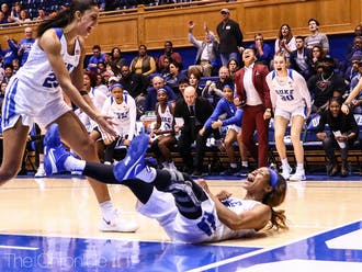 Lambert (right) had been one of the key sparks for Duke's turnaround this season.