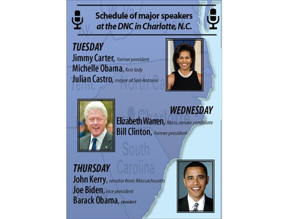 The Chronicle is sending two reporters and a photographer to the Democratic National Convention in Charlotte this week. Major speakers include President Barack Obama, First Lady Michelle Obama and former president Bill Clinton.