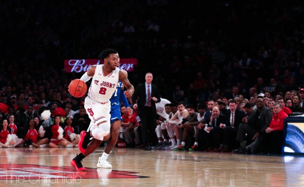 <p>Shamorie Ponds scored 33 points against Duke last season, leading the Red Storm to victory.</p>