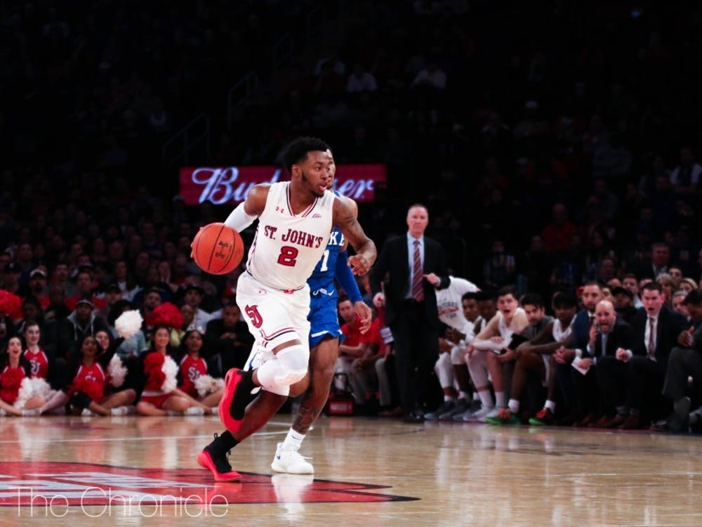 Shamorie Ponds scored 33 points against Duke last season, leading the Red Storm to victory.