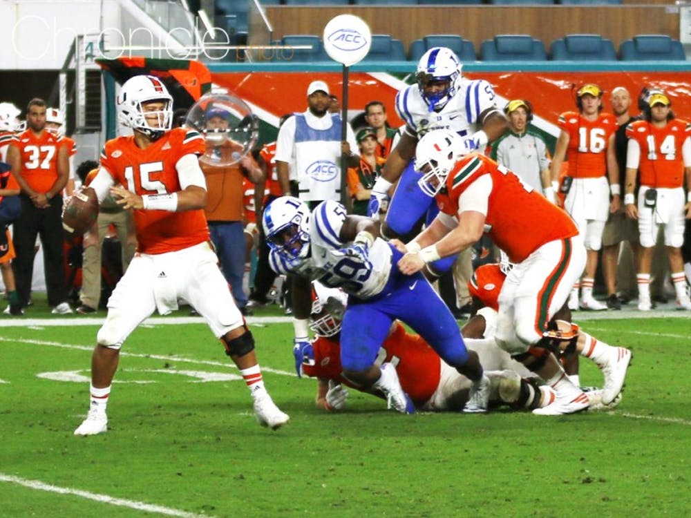 The Blue Devils had no answer for Miami's offense after halftime.