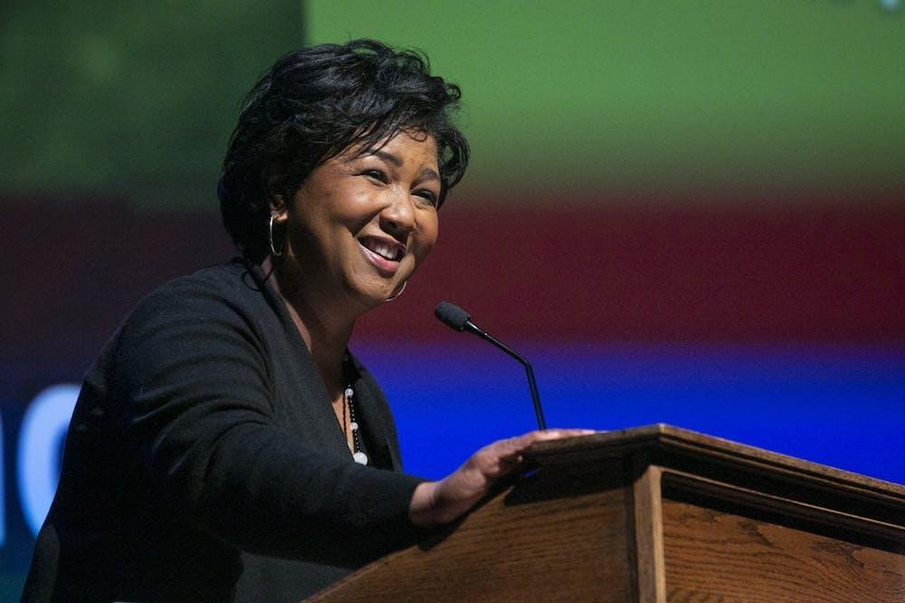 Mae Jemison spoke at Page Auditorium Feb. 24.