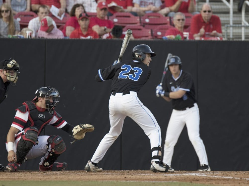 Chris Proctor scored one of Duke's two first-inning runs Friday night, but the Blue Devils were unable to generate any offense after that, going 1-for-9 with runners in scoring position.