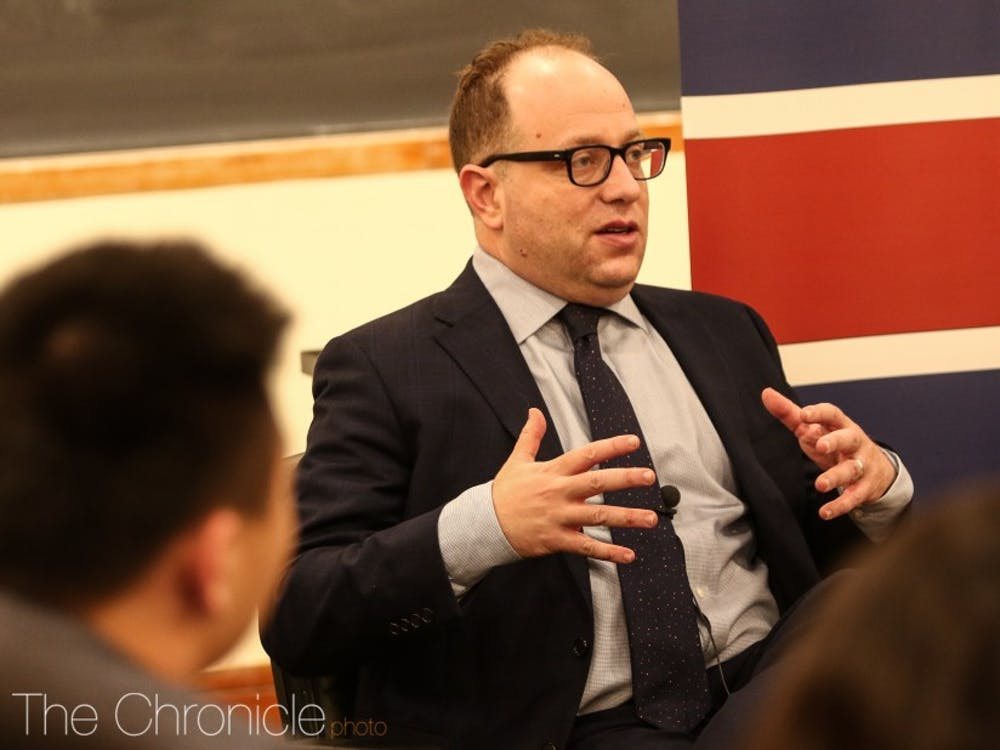 Dan Blumenthal, director of Asian Studies at the American Enterprise Institute, spoke on campus Tuesday evening.