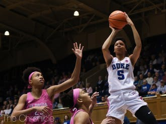 Leaonna Odom exerted all-around dominance in the Blue Devils' exhibition contest.