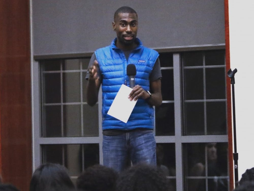 Activist DeRay Mckesson spoke about the Black Lives Matter movement at two events hosted by the Black Student Alliance Thursday.