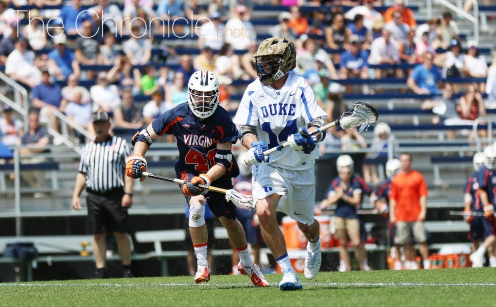 <p>Justin Guterding's hat trick Sunday gave him sole posession of first place on the NCAA all-time career goals scoring list.</p>