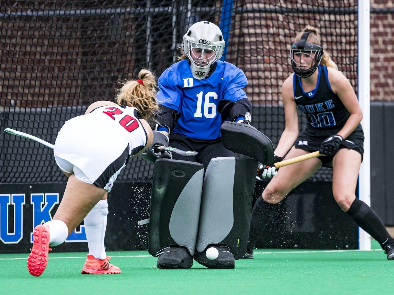 Sophomore goalie Piper Hampsch recorded three shutouts during her freshman season.