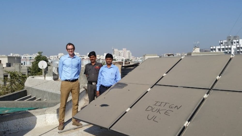 <p>Mike Bergin first saw particles on solar panels on a rooftop of a building at&nbsp;Indian Institute of Technology at Gandhinagar.</p>