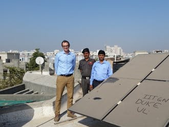 Mike Bergin first saw particles on solar panels on a rooftop of a building at Indian Institute of Technology at Gandhinagar.