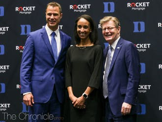 Jon Scheyer (left) will be head coach Mike Krzyzewski's successor after he retires at the end of the 2021-22 season.
