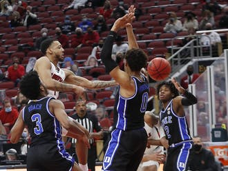 Carlik Jones picked apart the Blue Devil defense, leading Louisville with 24 points and five assists.