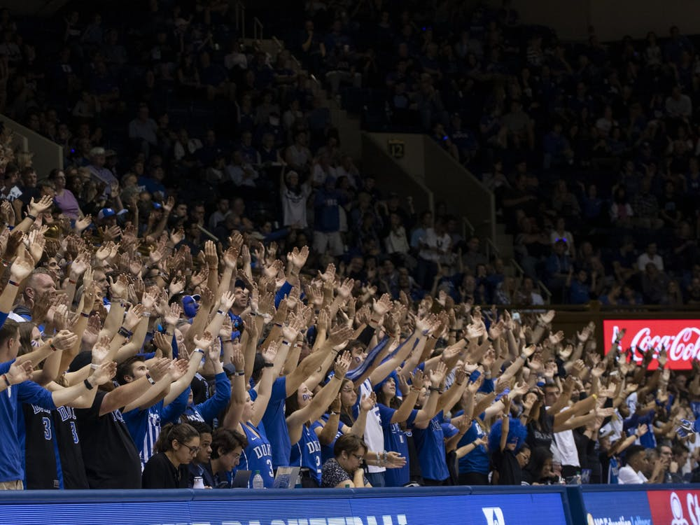 A day after Mike Krzyzewski scolded them, some Cameron Crazies got to hear a private speech from the Duke head coach.