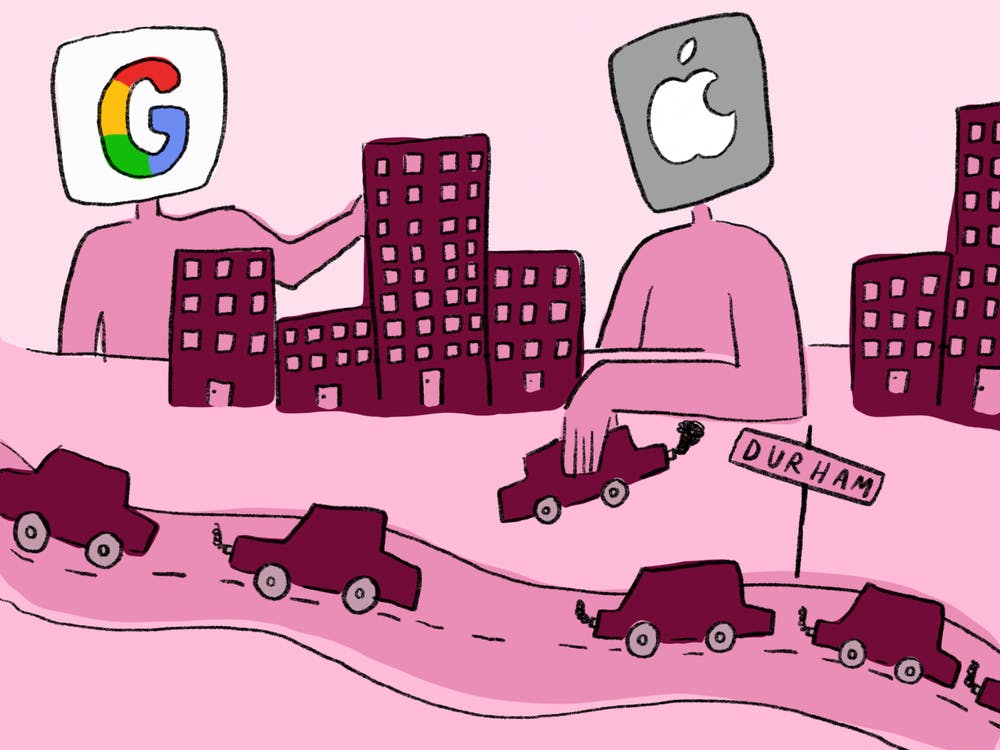 Google and Apple announced in spring 2021 that they would be launching hubs in The Triangle. Now, the Durham community is preparing to grapple with the impact of these huge investments.