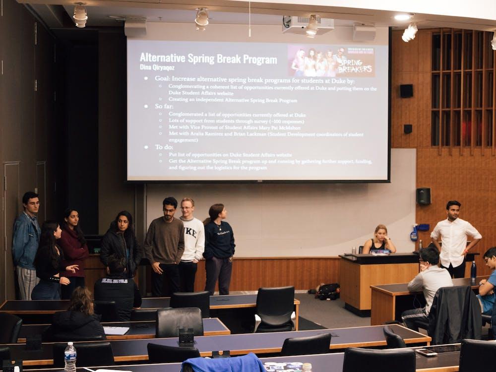 Duke Student Government's Senate met on Jan. 22.