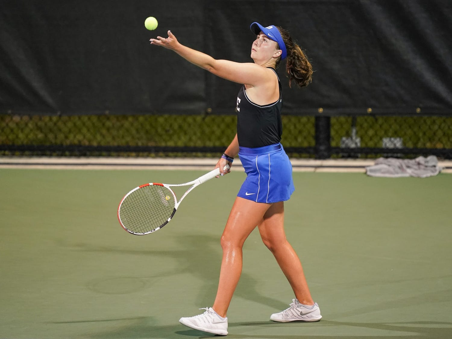 Sophomore Chloe Beck won her singles match, but Duke still couldn't knock off the top-seeded Tar Heels.