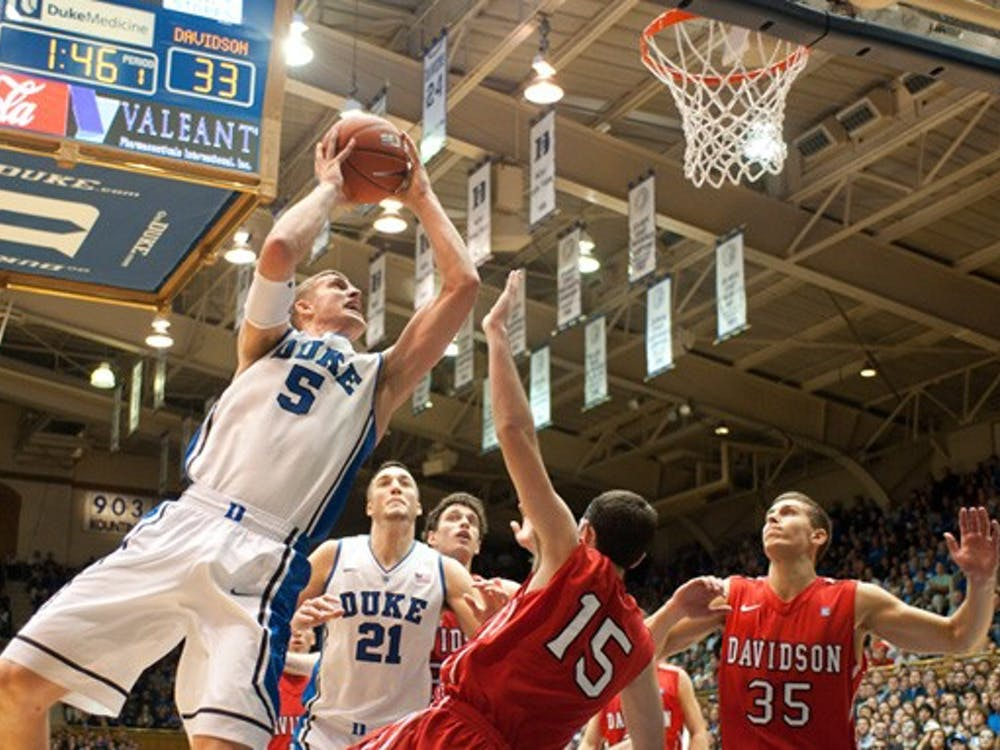 Mason Plumlee had 16 points and 13 rebounds against the Wildcats, his second double-double of the season.