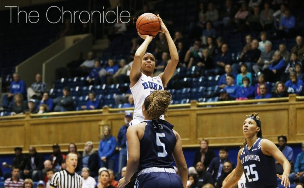 <p>Freshman Leaonna Odom got her first career start against Villanova and gives the Blue Devil frontcourt extra speed and versatility.&nbsp;</p>