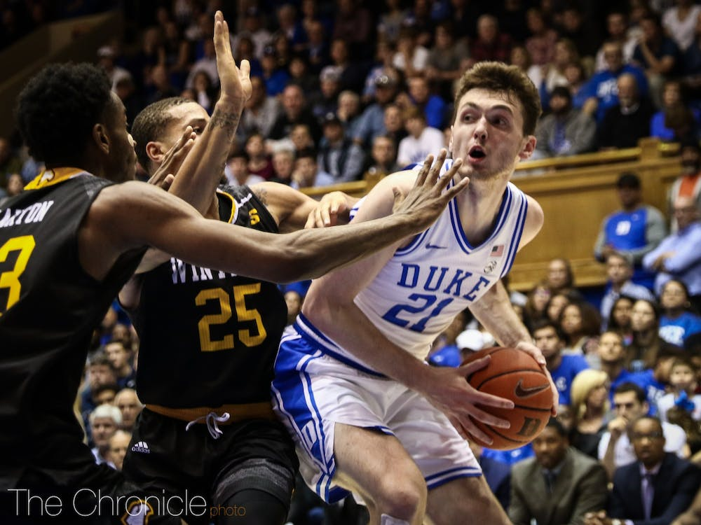<p>Matthew Hurt scored 18 points in the first half Friday, flashing the scoring ability he was recruited for.</p>