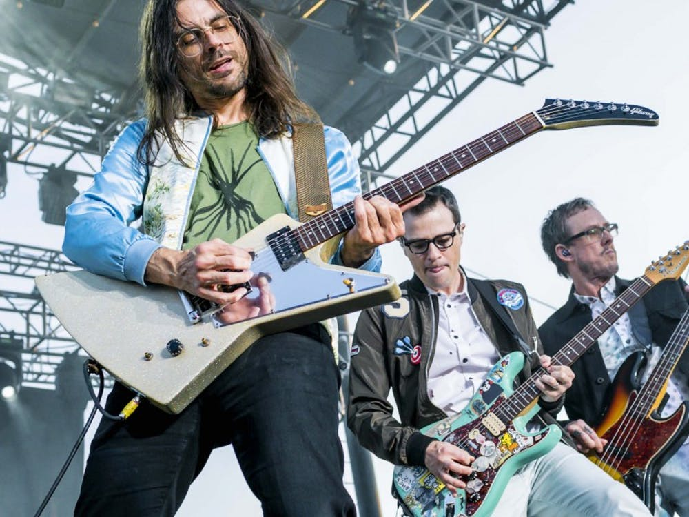"Weezer, pictured in 2015, released their 13th album ""Weezer (Black Album)"" March 1."