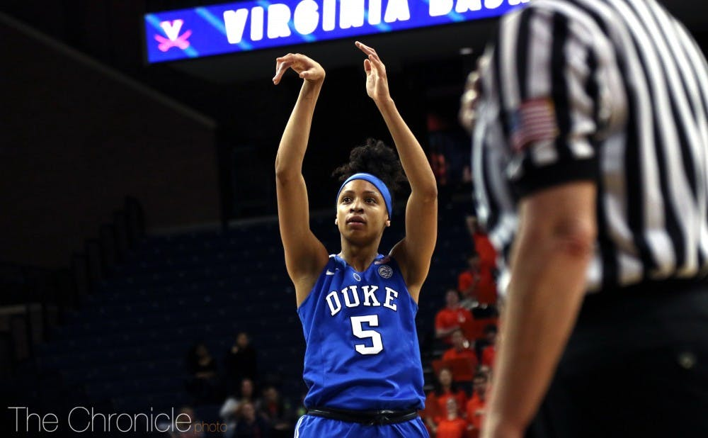 <p>Leaonna Odom, alongside Haley Gorecki, will be a key playmaker for the Blue Devils this season.</p>