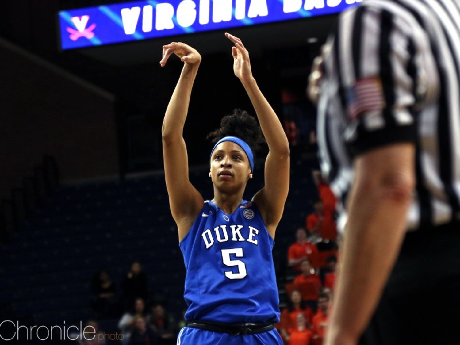 Leaonna Odom, alongside Haley Gorecki, will be a key playmaker for the Blue Devils this season.