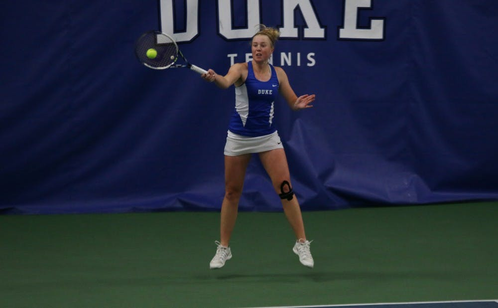 <p>Freshman Kaitlyn McCarthy lost for the first time on court one this season Tuesday against N.C. State and will try to bounce back this weekend against Georgia Tech and Clemson.</p>